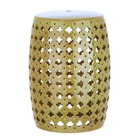 safavieh circle lattice garden patio stool acs4508b