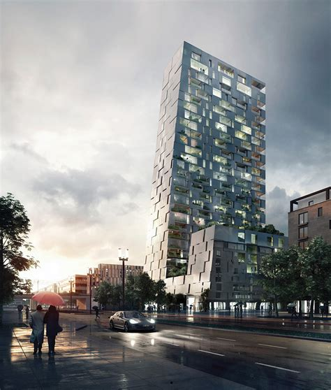 porsche tower gr 252 ntuch ernst architekten s layered scheme wins porsche