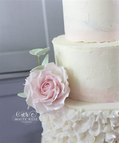 wedding cake of the day pink ombr flower wedding cake three tier wedding cake with watercolour ombre pink
