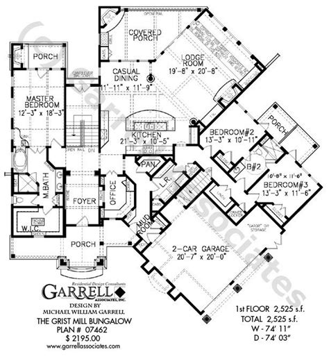 mil house plans grist mill bungalow house plan 07462 1st floor plan