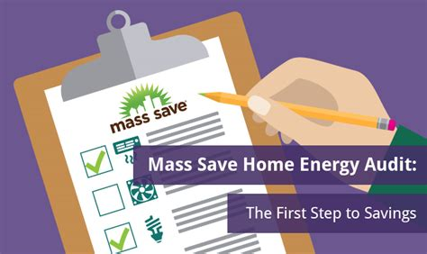 mass save home energy audit the step to savings