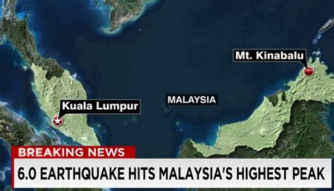 earthquake malaysia today watch earthquake strikes malaysia s tallest peak 160