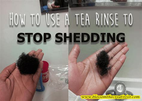 Ways To Stop Shedding Hair by How To Use A Tea Rinse To Stop Shedding Blossom The