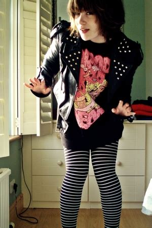 Jaket Drop Dead Tiger Black black jackets black drop dead sweaters black accessorize tights quot boo quot by carmen chictopia