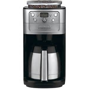 Coffee Maker W Grinder Cuisinart Brushed Chrome Fully Automatic 12 Cup Grind