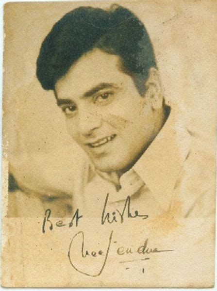 actress sridevi signature signed photograph of indian movie actor jeetendra old