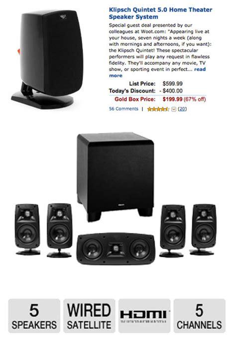klipsch quintet  speaker system   reduction