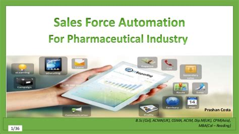 Pharmaceutical Mba Uk by Sales Automation For Pharmaceutical Industry