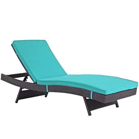 turquoise chaise modway convene outdoor patio chaise espresso turquoise