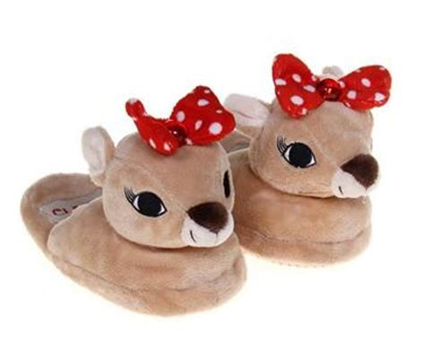 rudolph the nosed reindeer slippers nwt rudolph the nosed clarice reindeer slippers
