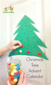 pom pom tree advent calendar trees crafts and