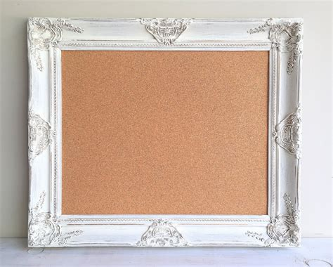 Decorative Cork Boards For Home by Farmhouse Decor Cork Board Fixer Style Home Decor White
