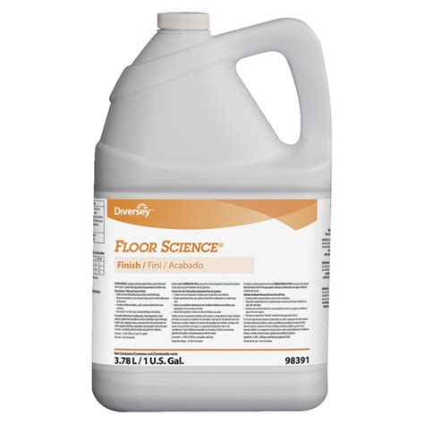 johnson diversey floor finish cleaner 1 gal jug white