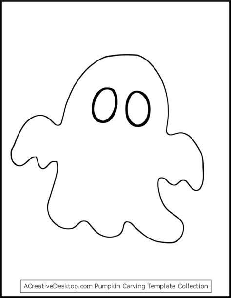 Ghost Template by Free Ghost Pumpkin Carving Templates Easy Ghost Patterns