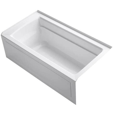 kohler archer 5 foot right drain soaking tub overstock