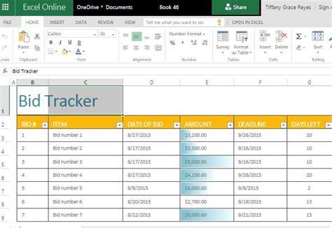 Bid Tracker Excel Template Excel Bid Template