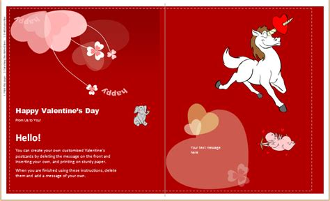 valentines day card quarter fold templates word valentines day card template startupcorner co