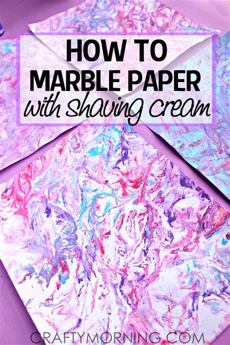 Marbled Paper Craft - how to make marbled paper with paint
