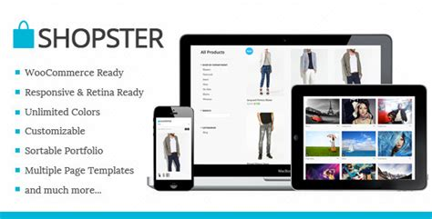 Shopster Retina Responsive Woocommerce Theme By Ufothemes Themeforest Woocommerce Landing Page Template