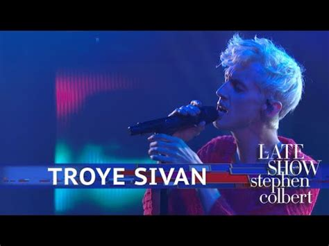 troye sivan performs animal youtube