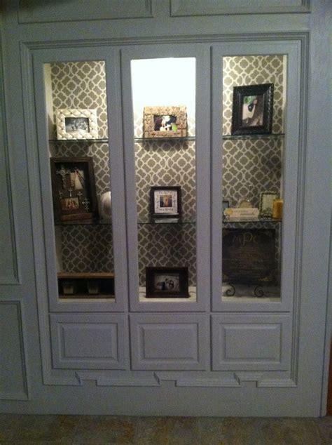 built in gun cabinet built in gun cabinet i turned into a curio type cabinet
