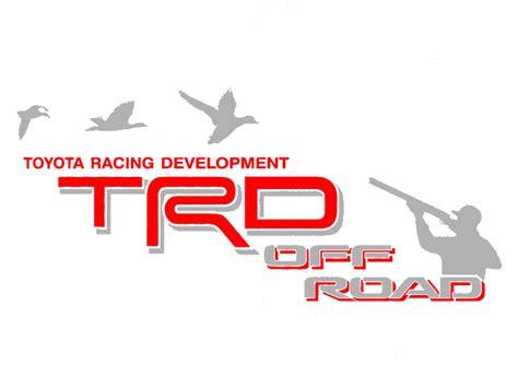 Toyota Racing Development 2 Toyota Trd Road Duck Decal Mountain Trd