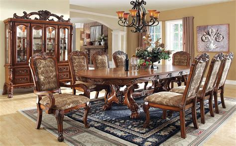 elegant dining room set buy furniture of america cm3557t set medieve formal dining