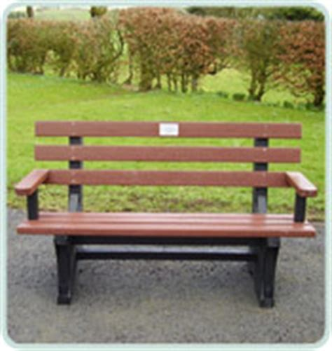 recycled plastic memorial benches solway products memorial benches recycled plastic benches