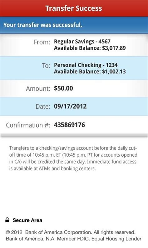 mobile bank transfer bank of america android app version 6 0 makes depositing
