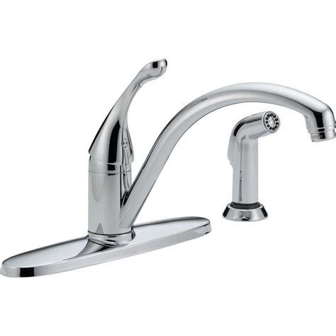 delta classic single handle standard kitchen faucet  chrome  dst  home depot