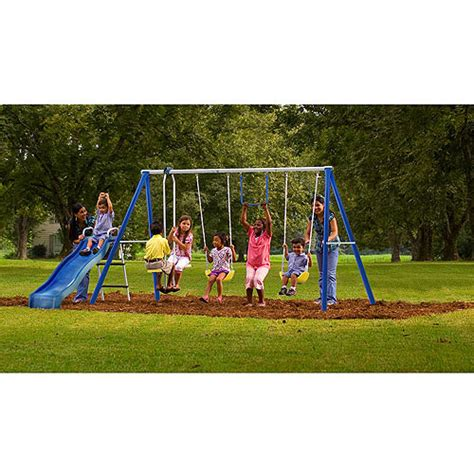 swing sets walmart flexible flyer swing free metal swing set walmart com