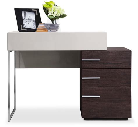 Modern Vanity Dresser by Modrest Daytona Modern Brown Oak Vanity Dresser Desks