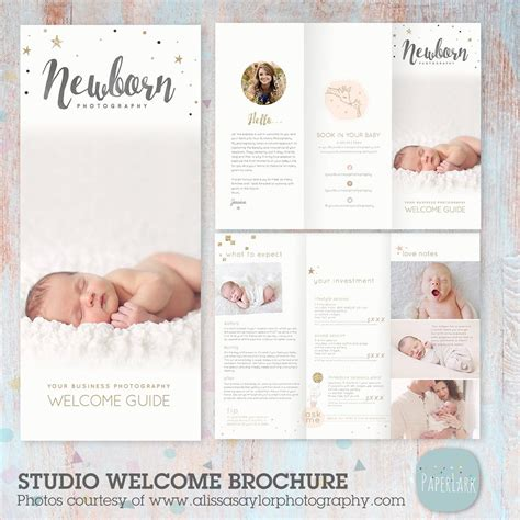 newborn magazine template newborn photography trifold brochure template pg019