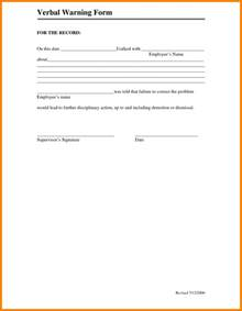6  verbal warning form   monthly budget forms