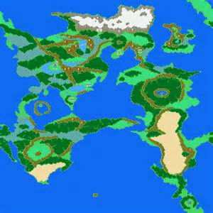 Ff2 World Map by Final Fantasy Dawn Of Souls For Gba Maps
