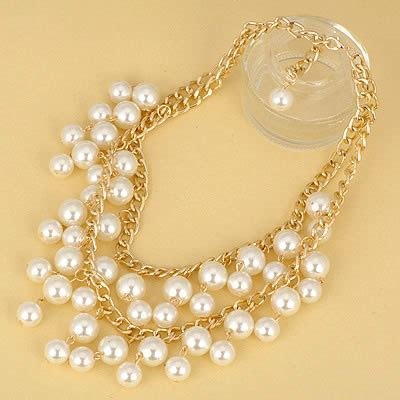 Kalung White Pearl Layer beauteous white pearl layer asujewelry