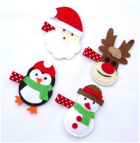 christmas hair clips the best gift for your baby girls