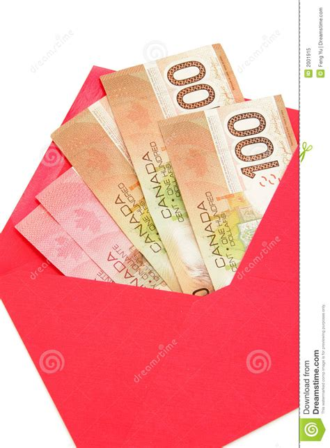 new year envelopes canada canadian dollar and envelope royalty free stock photo