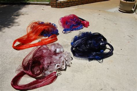 Handmade Cast Nets For Sale - custom cast nets commercial grade for bait shrimping