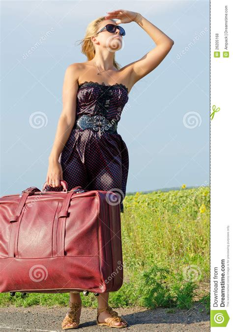 woman looking into distance royalty free stock photos image 5371368 woman with luggage looking into the distance royalty free