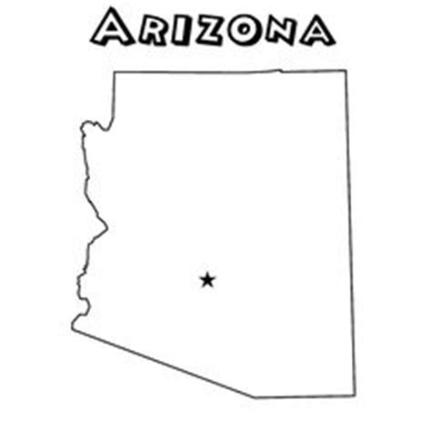Arizona Maps And State Outline On Pinterest Arizona Coloring Page