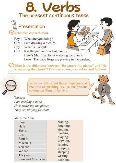grade 3 grammar lesson 8 verbs the present continuous
