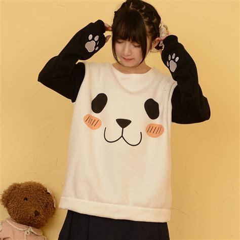 Jaket Hodie Footpint Panda achetez en gros kawaii panda hoodie en ligne 224 des
