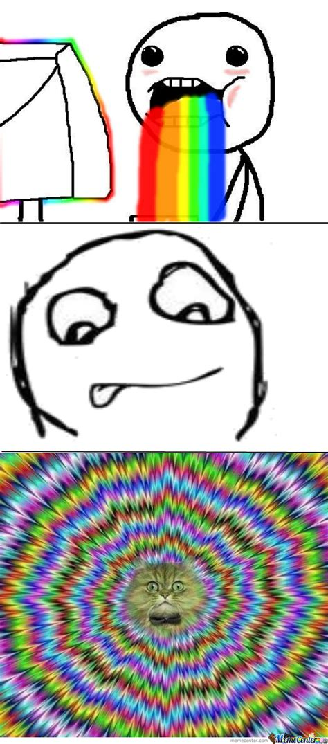 Internet Rainbow Meme - what internet rainbow puke looks like by recyclebin