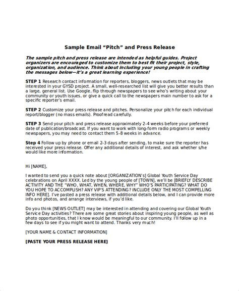 press release email template press release template 20 free word pdf document