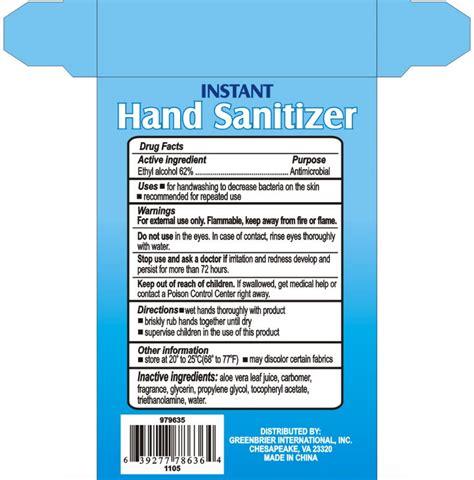 instant hand sanitizer original liquid core brands