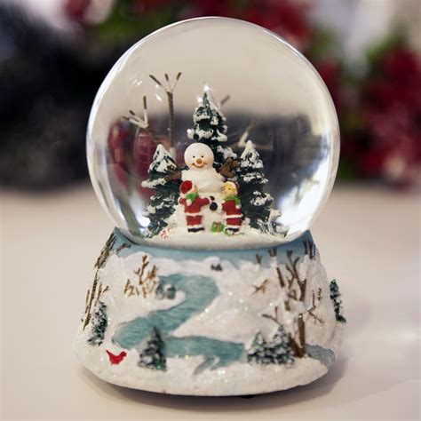 At Home Christmas Decorations glass christmas snowball with carillion e pozzi
