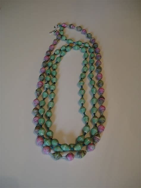 How To Make Paper Bead Jewelry - paper diy tutorial beading