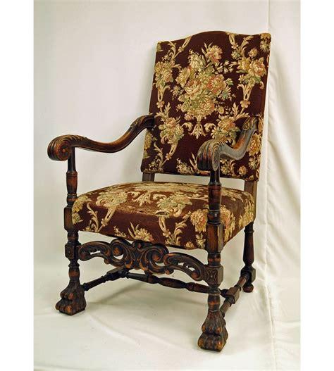 oak armchair 19th century jacobean english oak armchair