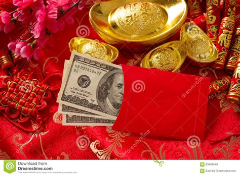 new year traditions packet new year envelope with dollars inside stock
